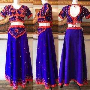 138cab084 Handmade Skirts | Indian Embroidered Crop Top Skirt Sz S | Poshmark